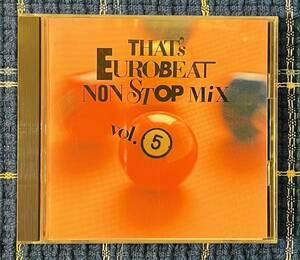 即決送料無料、That's EUROBEAT NONSTOP MIX Vol.5、1988年、国内盤32B2-1