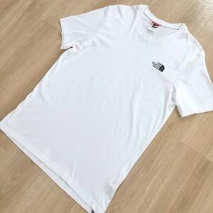 美品☆THE NORTH FACE 半袖Tシャツ 白 メンズMサイズ コットン100% ザ・ノースフェイス 正規品 クリーニング済