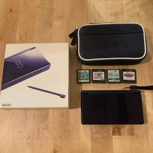 Nintendo DS Lite 箱付き ネイビー どうぶつの森 スーパーマリオ カセット