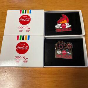 コカ・コーラ  ピンバッジ 2個セット ピンズ 東京オリンピック