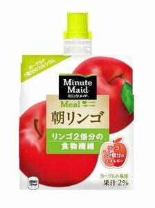 コカ・コーラ ミニッツメイド 朝リンゴ ゼリー飲料 パウチ 180g×6個