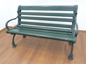 Andy Thornton ガーデン ベンチ ① W1270×D620×H800mm チェア パークベンチ 椅子 屋外 アルミ カフェ テラス 庭 公園 グリーン イギリス