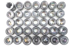 【34点】MINOLTA ミノルタ MC ROKKOR-PF 58mm F1.4/HG 35mm F2.8/PG 50mm F1.4 等 中間リング付 単焦点 カメラレンズ まとめ売り 11043-F