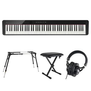 s22861 CASIO Privia PX-S1100 BK 電子ピアノ キーボードスタンド キーボードベンチ ヘッドホン 4点セット