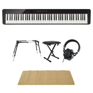 s22872 CASIO Privia PX-S1100 BK 電子ピアノ 4本脚型キーボードスタンド キーボードベンチ ヘッドホン マット付きセット