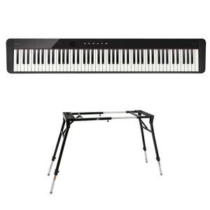 s22857 CASIO Privia PX-S1100 BK 電子ピアノ キーボードスタンド 2点セット