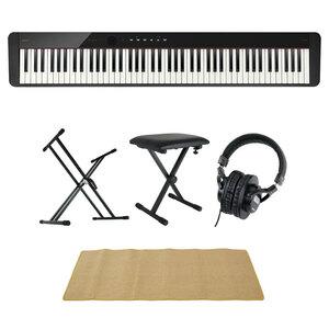 s22868 CASIO Privia PX-S1100 BK 電子ピアノ キーボードスタンド キーボードベンチ ヘッドホン ピアノマット(クリーム)付きセット