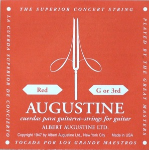 9937 AUGUSTINE RED 3弦 クラシックギター弦 バラ弦