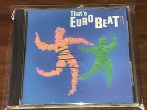 送料込み Thats Eurobeat vol.1 ザッツユーロビート 即決