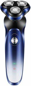【当日発送】【新品】メンズ電気シェーバー ひげそり 回転式 IPX7防水 水洗い/お風呂剃り可 USB充電式 LEDディスプレイ トリマー付き