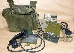 貴重なデンマーク 軍用 50メガ FM トランシーバー SM-2/PRC-261 動作品セット ジャンク扱い