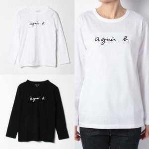 【アニエスベー】長袖Tシャツ Lサイズ レディース ホワイト
