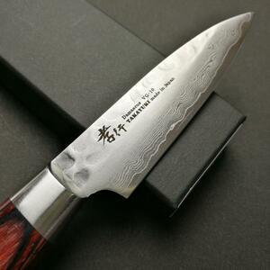 堺孝行 33層槌目ダマスカス ペティナイフ (8cm) 80mm 日本製 高級包丁