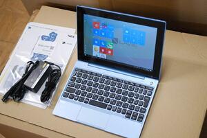 【ジャンク品、画面割れ、動作せず、Office欠品】NEC LAVIE First Mobile FM150/PAL PC-FM150PAL 10.1インチ CPU:Celeron N4100/1.1GHz