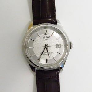 Th899072 ティソ 腕時計 T-クラシック バラード T108.408.16.037.00 自動巻き 革ベルト シルバー文字盤 メンズ TISSOT 未使用