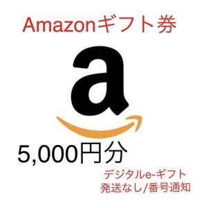 Amazonアマゾンギフト券/5,000円分/発送なし番号通知/ポイント消化デジタルe-giftギフト2030/10/22まで即日対応即決2