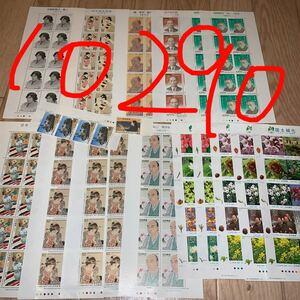 切手シート 10290円分 切手趣味週間 国土緑化 詩人・小説家