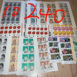 切手シート 10240円分 62円 52円 日本国際切手展 国土緑化 詩人小説家