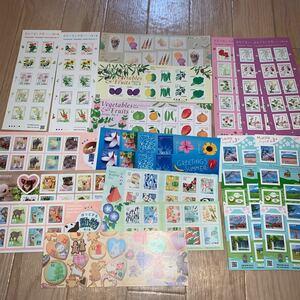 切手シート シール 9240円分 花 動物 ふみの日