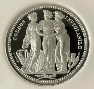 【 準最高鑑定 】 2020 イギリス スリーグレイセス 5ポンド 2オンス 銀貨 NGC PF69 ファーストリリース 英国 ケース ウナ ライオンではない