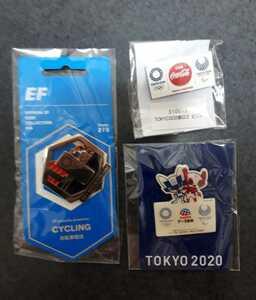 東京オリンピック ピンバッジ ピンバッチ  2020 ミライトワ EF コカ・コーラ サイクリング 未使用