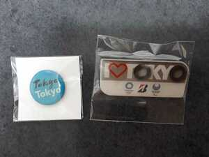 東京オリンピック ピンバッジ ピンバッチ 2020 ブリジストン ピンズ 未使用 2個セット
