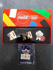 東京オリンピック ピンバッジ ピンバッチ 2020 柔道 ミライトワ コカ・コーラ アース製薬 ピンズ 未使用