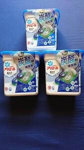 アリエール ジェルボール4D 炭酸機能でハジける洗浄力 清潔で爽やかな香り 洗濯用合成洗剤 本体 12個×3箱