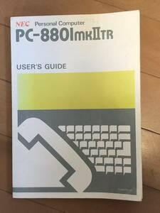PC-8801mk2 TR ユーザーズマニュアル