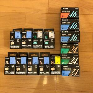 カシオ ネームランドテープ まとめて 15個 大きいサイズ 18mm 24mm 46mm