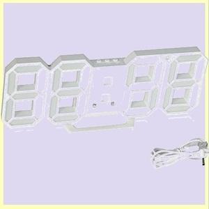 ☆★タイムセール★☆ 電子時計 Formemory F-T7 日本語取扱説明書付き ホワイト おしゃれ 目覚まし時計 LEDデジタル時計 壁掛け 卓上