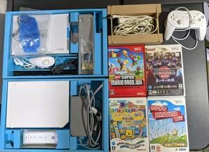 Wii本体一式 + マリオ + ウイイレ + カラオケ(マイク付き)