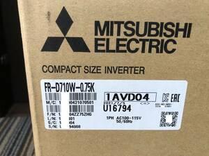 新品 家庭AC100Vを三相200V出力 三菱インバーターFR-D710W-0.75K