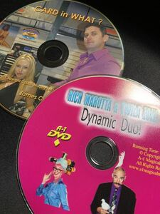 Dynamic Duo by Rich Moratta and Twila Zone & Card in What? by James Coats マジックDVD 2枚セットレクチャーDVD カードマジック