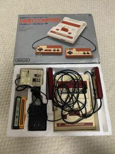 ファミコン本体 任天堂 HVC-001 ファミリーコンピュータ Nintendo カセット付き
