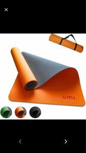 ヨガマット ストレッチマット 筋トレマット エクササイズマット-滑り止め付き ストラップ付 TPE素材 軽量