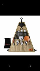 クッキングツール カトラリー収納袋 吊り下げツールロールポーチ バッグ キャンプ