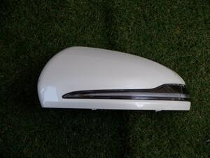 ベンツ純正 W213 Eクラス E200 E220 E300 ウィンカーレンズ付 ドアミラー カバー 左側 パールホワイト 2132.30239799 A0999064701 21-10-77