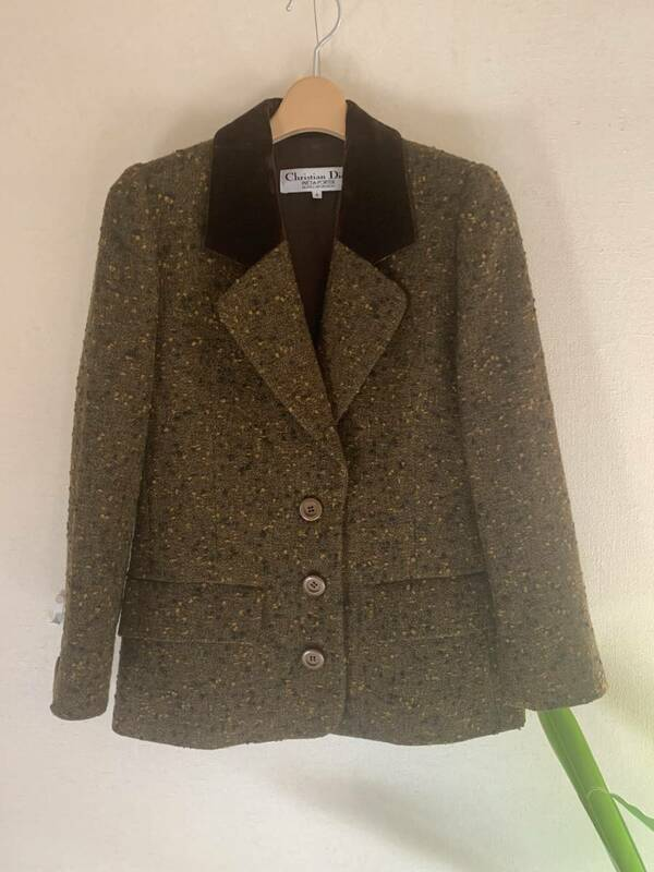 クリスチャンディオール Dior ツィードジャケット