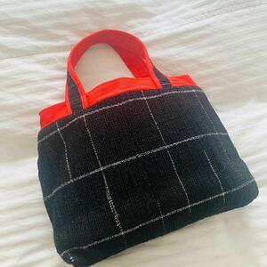 【ハンドメイド】裂織り トートバッグ ハンドバッグ