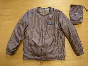 【美品】ナノ・ユニバース別注 ワイルドシングス ノーカラー リバーシブル中綿ジャケット プリマロフト size:S
