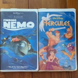 ディズニーVHSビデオ Finding Nemo, Hercules