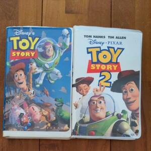 ディズニー ピクサー中古VHSビデオ トイストーリー1&2