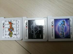 3DS ソフト まとめ売り。 ポケモンムーン キングダムハーツ 妖怪ウォッチ