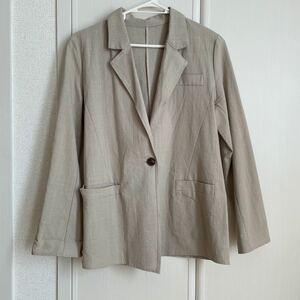 テーラードジャケット ベージュ 韓国