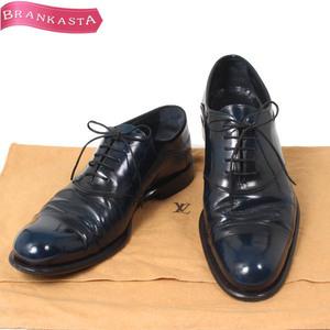 【人気】LOUIS VUITTON/ルイヴィトン ST0114 メンズ ビジネスシューズ 靴 ストレートチップ 6 1/2 ネイビー [大感謝祭]★23UF84