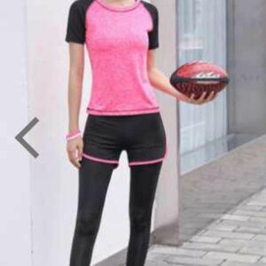 スポーツウェア トレーニングウェア レディース 上下セット ヨガウェア パンツ レギンス ブラ Tシャツ ヨガウェア