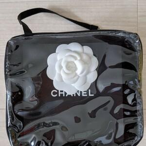 シャネルCHANELカメリアショップ袋、クリアポーチ
