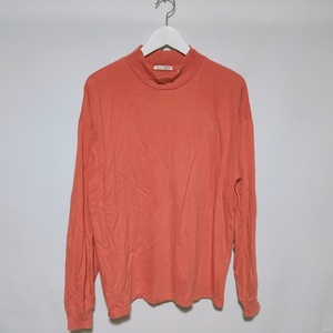 ニコアンド niko and ... Tシャツ ロンT カットソー ハイネック ワイドシルエット 長袖 M オレンジ メンズ /X