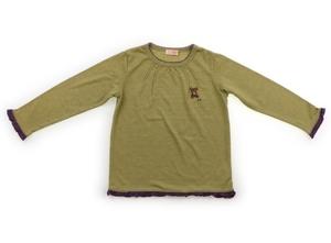 ティンカーベル TINKERBELL Tシャツ・カットソー 110 女の子 カーキ・紫パイピング 子供服 ベビー服 キッズ(842680)